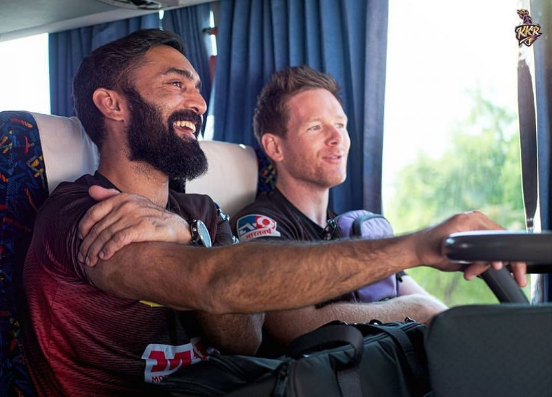 Eoin Morgan and Dinesh Karthik swapped roles in IPL 2020. Image Credits: KKR