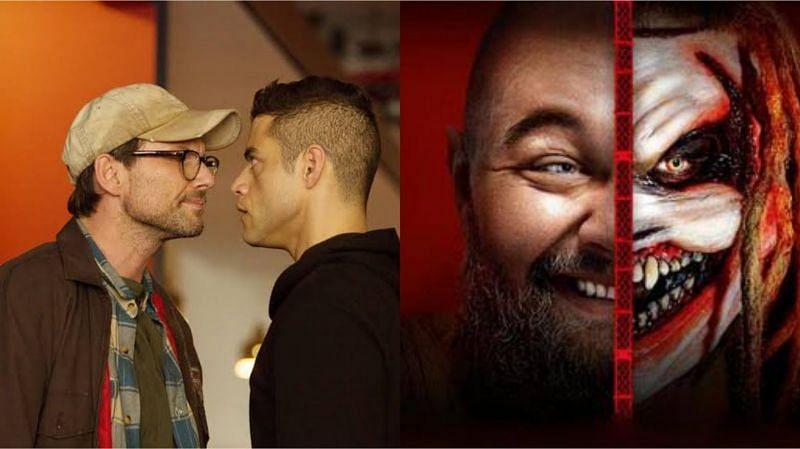 Still from Mr. Robot (left) and Bray Wyatt