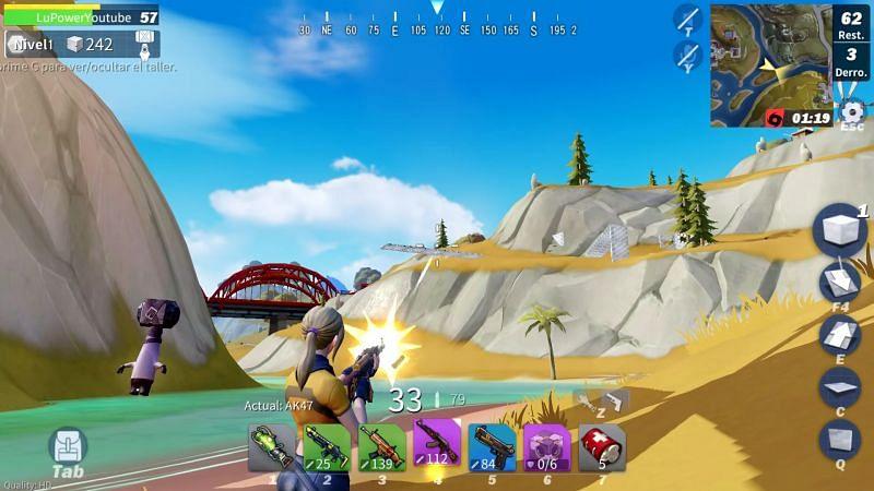Creative Destruction provides a similar experience of battle royale like Fortnite (Image credit: Creative Destruction)