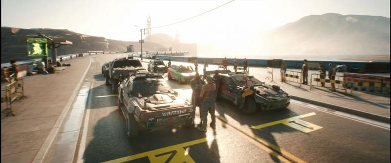 Gamers recently got a sneak peek at various Cyberpunk 2077 vehicles. (Image Credits: CD PROJEKT RED, Twitch)