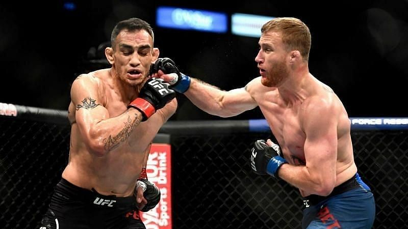 Justin Gaethje (right) is one of the top Lightweight fighters in the world today
