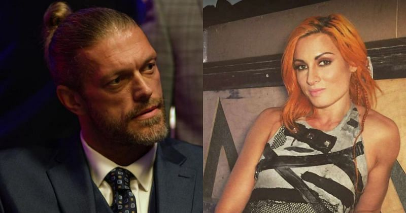Edge and Becky Lynch.