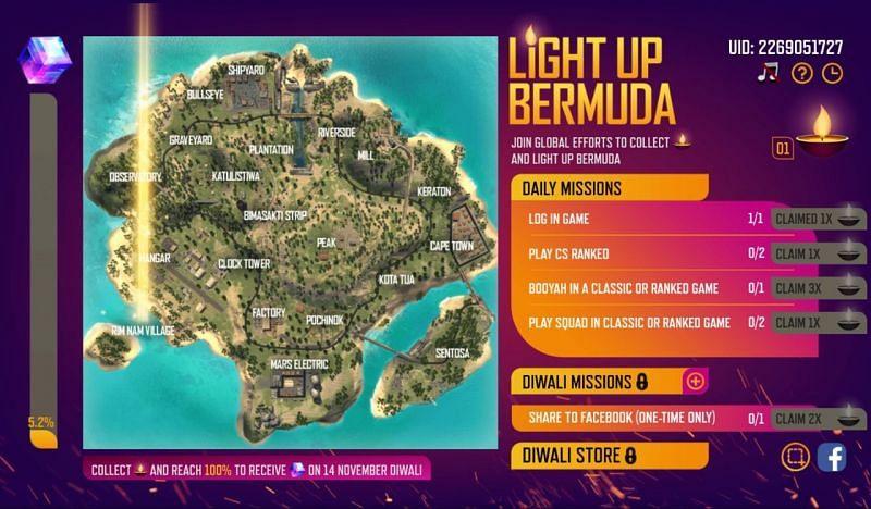 Light Up Bermuda in Free Fire