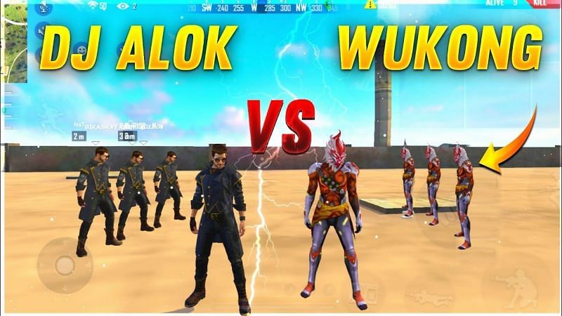 DJ Alok vs Wukong in Free Fire (Image Credits: A_S Gaming / YouTube)