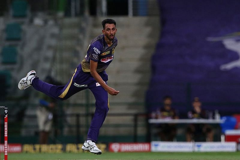 Prasidh Krishna was taken for runs in the two overs he sent down to the MI openers. [PC: iplt20.com]