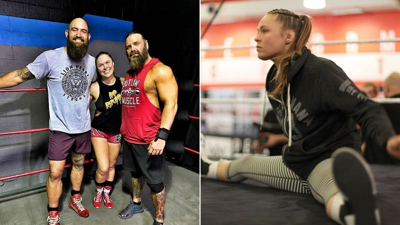 Ronda Rousey recently trained with James Storm