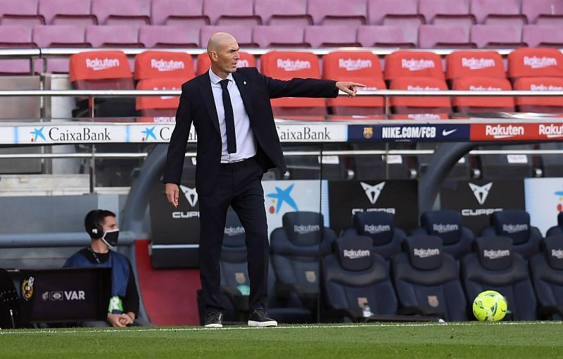 Zinedine Zidane during the El Clasico