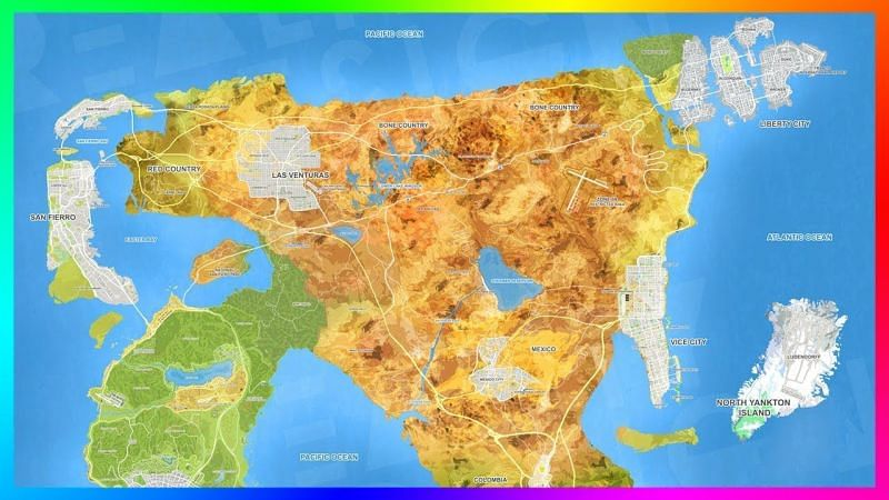 GTA 6 map: Does a bigger map always mean a better game? (Image Credits: Mrbossftw, YouTube)