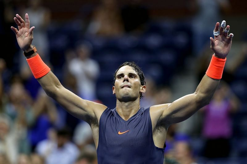 Rafael Nadal at the 2018 US Open