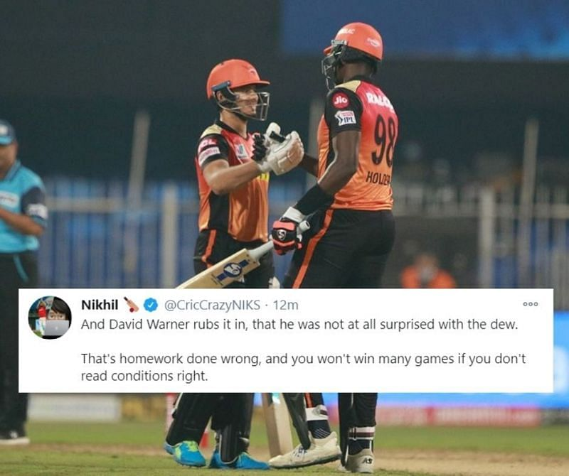 SRH stay alive in the hunt for an IPL 2020 playoffs spot after handing RCB a humiliating defeat