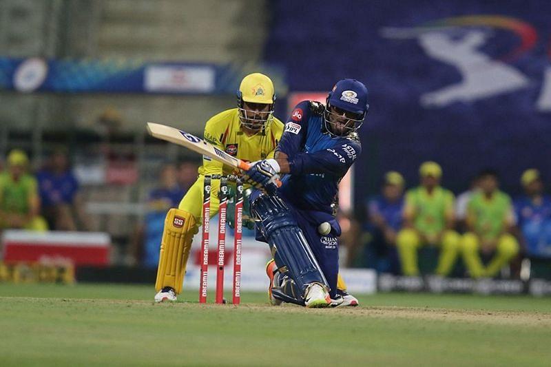Saurabh Tiwary hit the first six of IPL 2020 (Image credits: IPLT20.com)