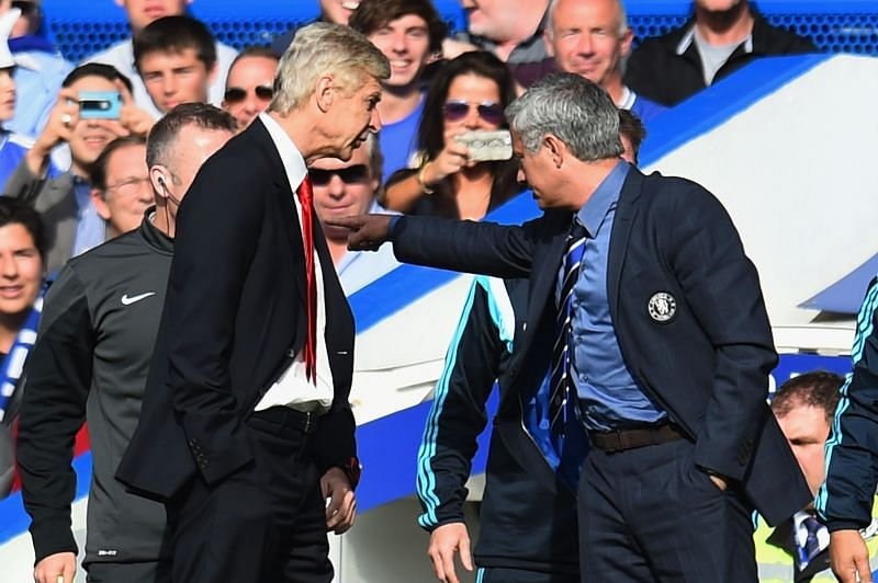 Mourinho and Wenger had a heated rivalry between them