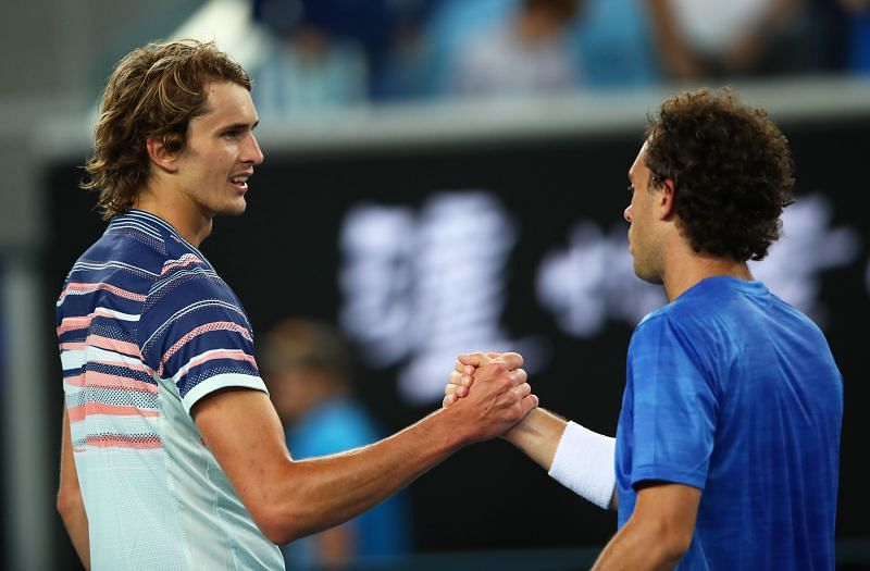 Alexander Zverev beat Marco Cecchinato earlier this year in Melbourne.