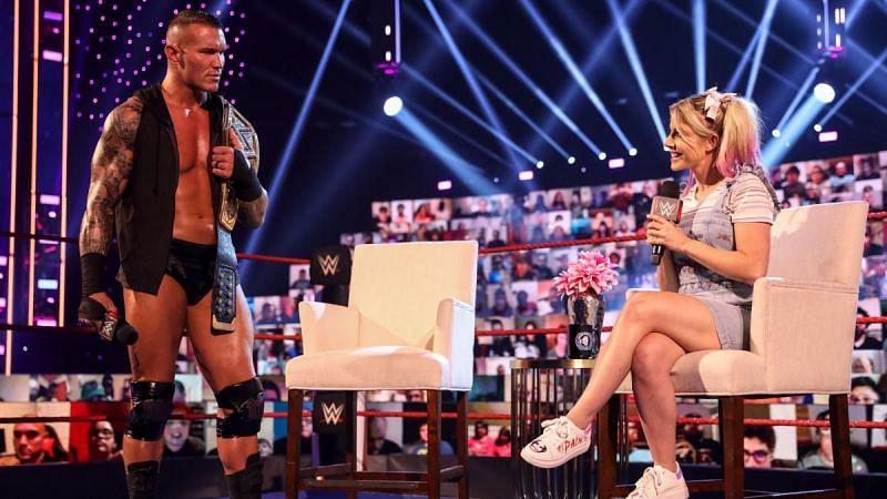 WWE Champion Randy Orton and Alexa Bliss