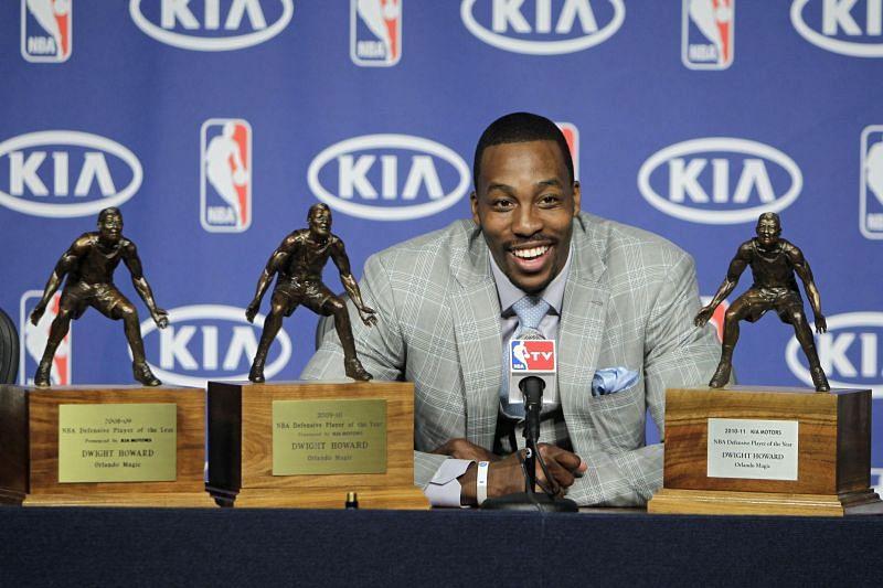 Howard won the NBA DPOY award three times.