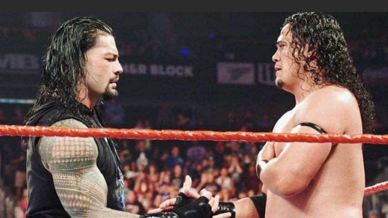 Roman Reigns and his cousin Lance Anoa
