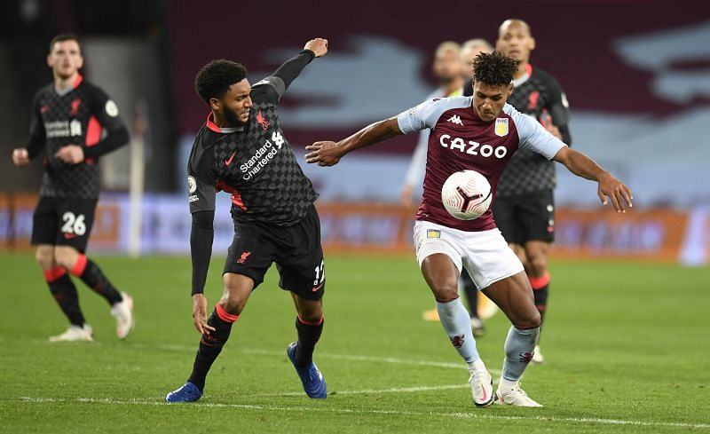 Joe Gomez was terribly out of sorts in their loss to Aston Villa