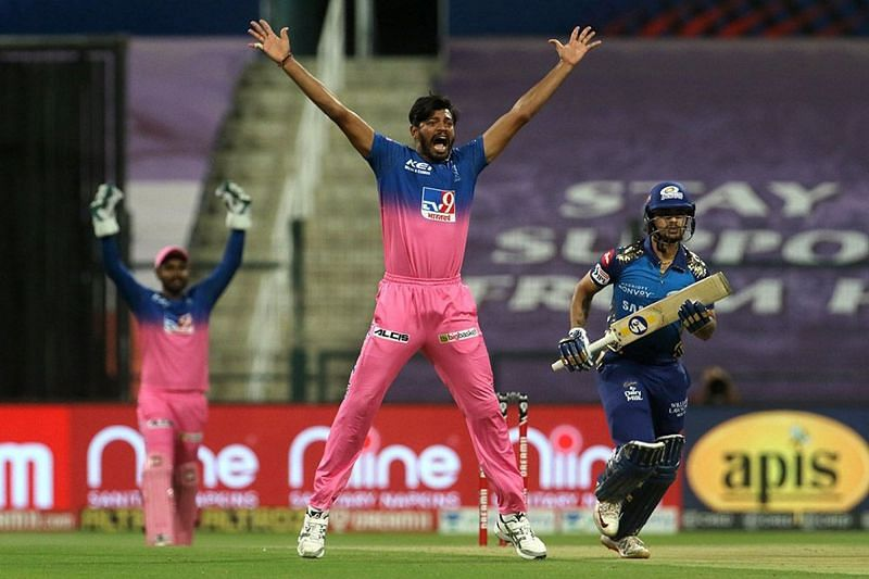Ankit Rajpoot had little to celebrate in his expensive outing with the ball. [PC: iplt20.com]