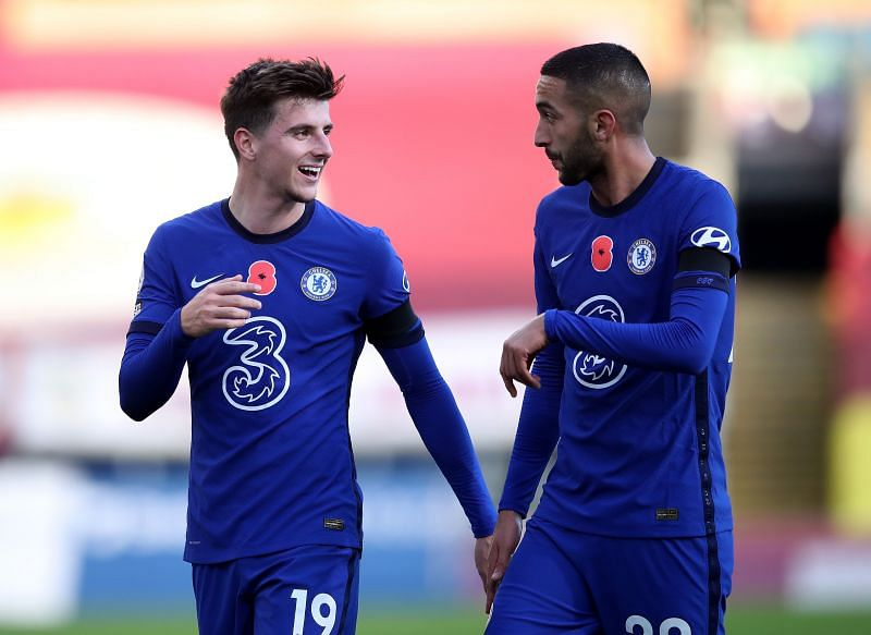 Hakim Ziyech (right) was in fine form on his first Premier League start for Chelsea.