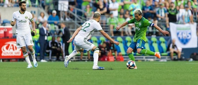 The Seattle Sounders take on the Portland Timbers this week. Image Source: Seattle Sounders