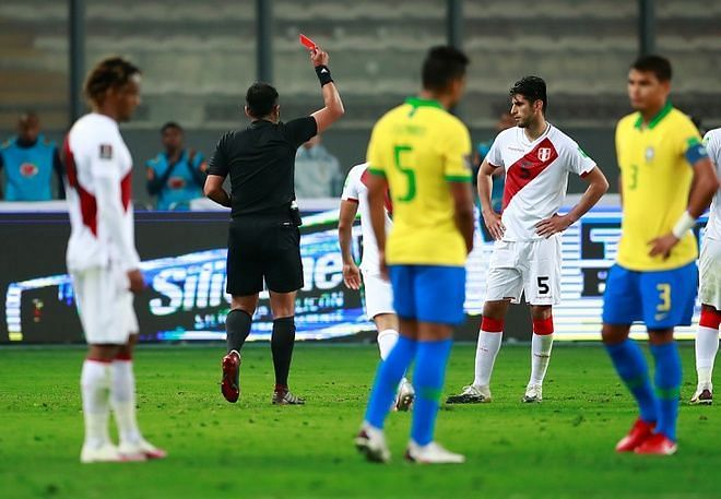 This was another reminder of the poor refereeing standards in South America.