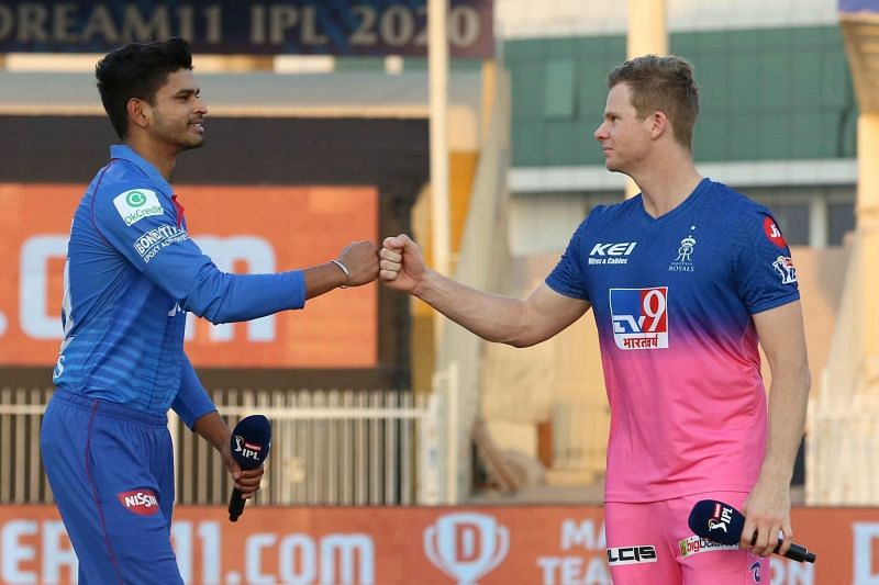 Shreyas Iyer and Steve Smith faced off in Match 23 of IPL 2020 [PC: iplt20.com]
