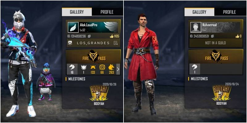 Who has better stats in Free Fire between DJ Alok and KSHMR?