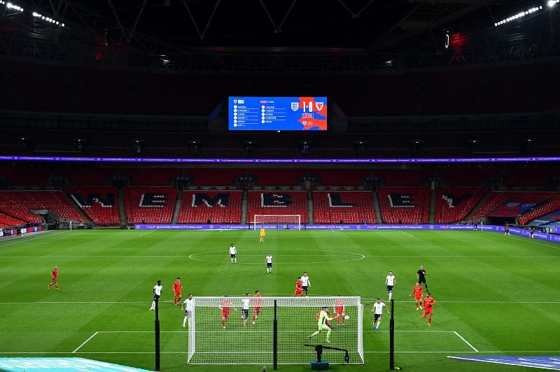 Wembley was empty for tonight