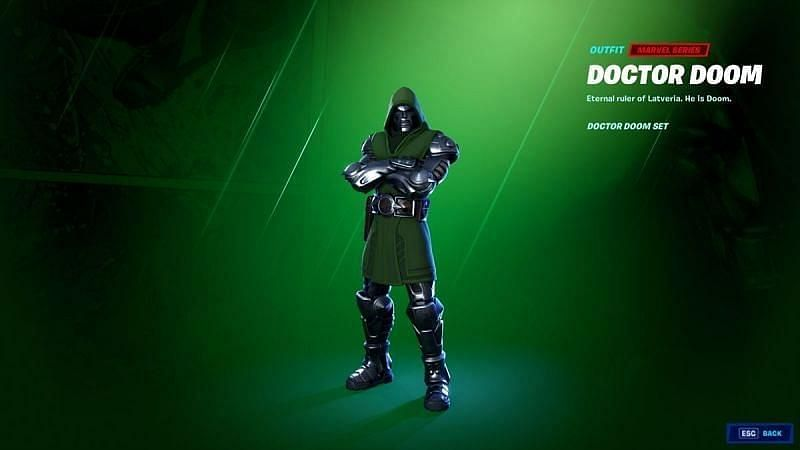 The Doctor Doom outfit in Fortnite Chapter 2 Season 4