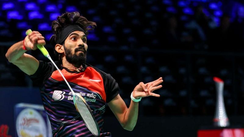 Kidambi Srikanth in action at the Denmark Open 2020 on Wednesday