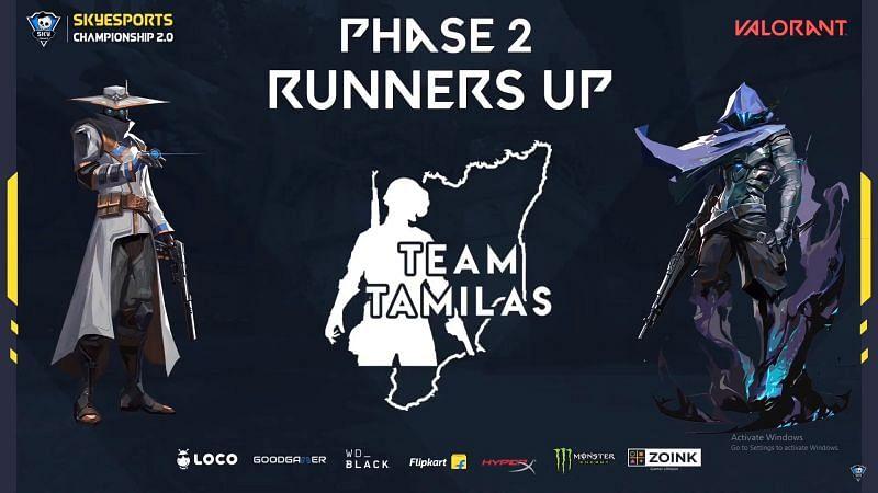 Team Tamilas are rising esports stars of Valorant India (image credits: Skyesports)