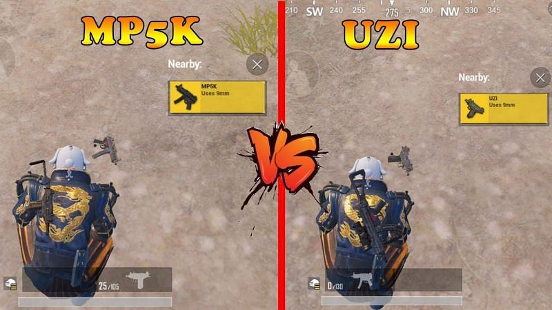 Which is a better SMG between the Micro UZI and the MP5K in PUBG Mobile? (Image Credits: Im Gamer)
