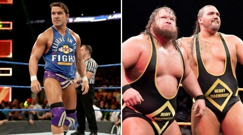 Chad Gable (L) and Heavy Machinery (R)