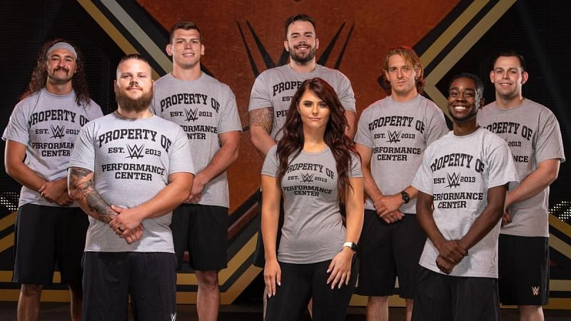 The newest batch of WWE Performance Center recruits