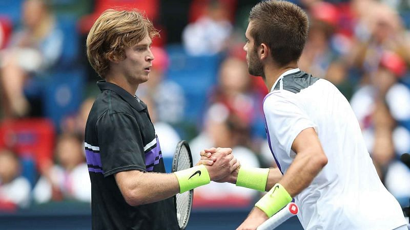 Andrey Rublev has won all three previous meetings against Borna Coric