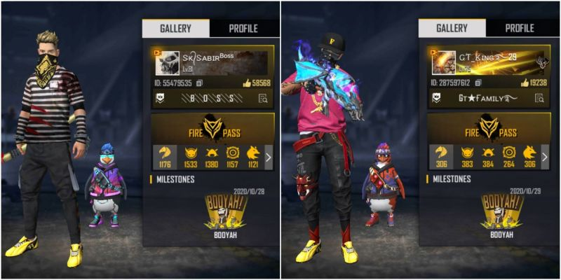 SK Sabir Boss vs Gaming Tamizhan (GT King): Who has better stats in Free Fire?