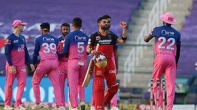 RCB celebrate another win in IPL 2020. Courtesy: iplt20.com