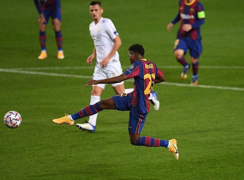 Ansu Fati scored the second goal for Barcelona