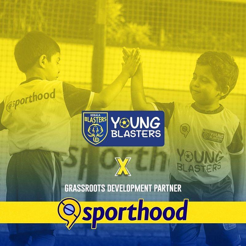 Kerala Blasters partnered with Sporthood to nurture football in Kerala.