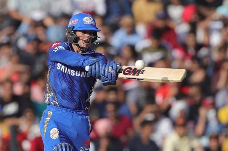 Quinton De Kock scored 69* off 58 balls versus SRH in 2019.