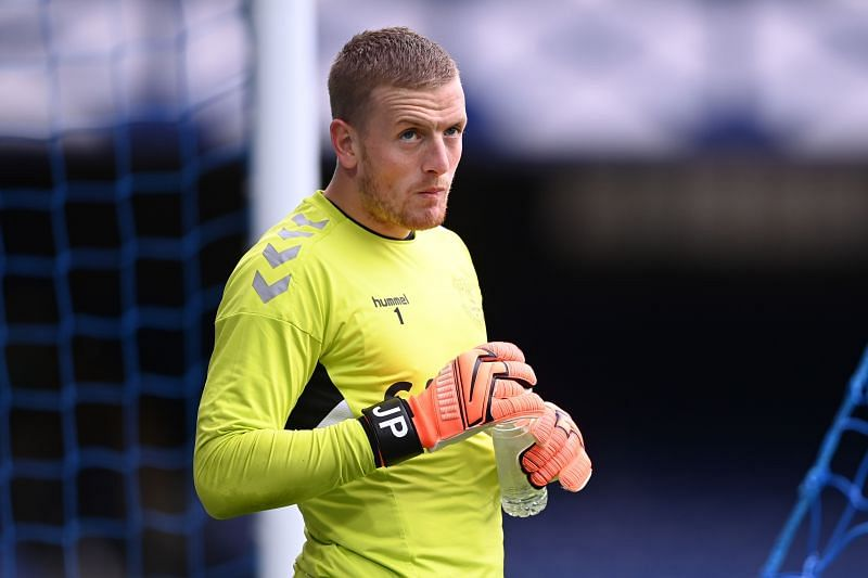 Jordan Pickford escaped red in the first-half