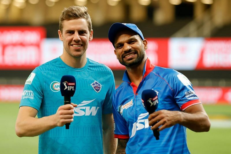 Shikhar Dhawan and Anrich Nortje helped DC move atop the IPL 2020 points table (Credits: IPLT20.com)