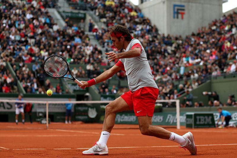 Roger Federer at French Open 2014