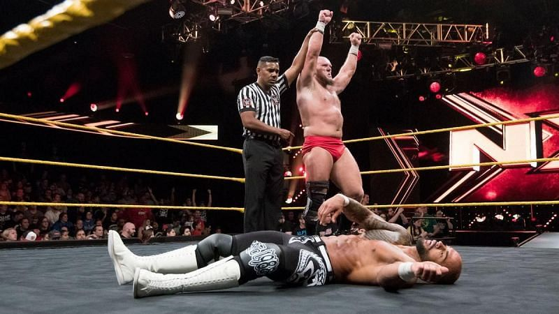 Lars Sullivan has defeated Ricochet in the past.