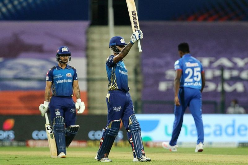 Suryakumar Yadav struck his second consecutive IPL 2020 fifty against DC tonight (Credits: IPLT20.com)