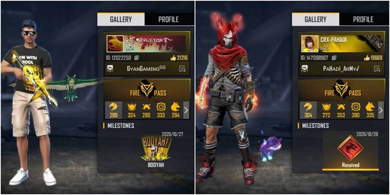 Who has better stats between Raistar and CRX Pahadi in Free Fire?
