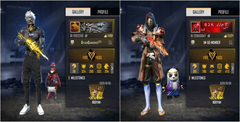 Who has better stats in Free Fire among Raistar and Born2Kill