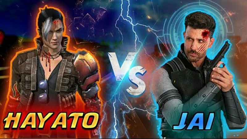 Hayato vs Jai in Free Fire (Image Credits: Vktech Gamer / YouTube)