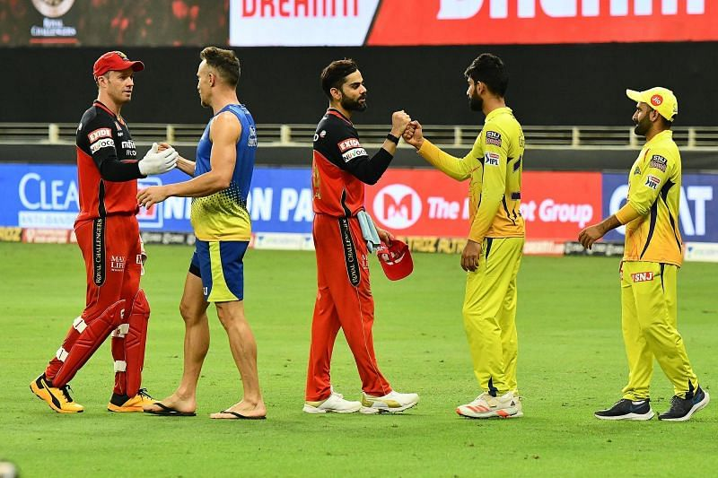 RCB and CSK featured in a high-voltage IPL 2020 clash