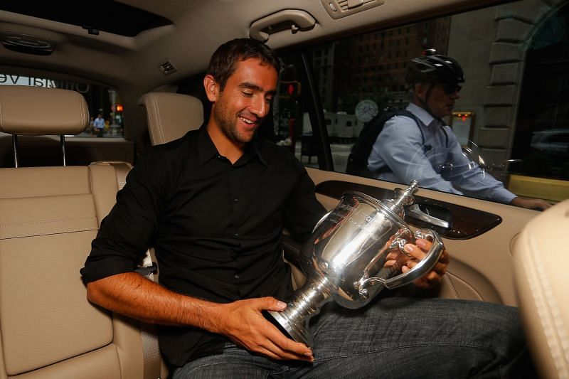 Marin Cilic with the US Open trophy in New York City in 2014